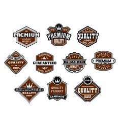 Collection of different Premium and Quality labels vector image