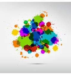 Colorful stains blots splashes background vector