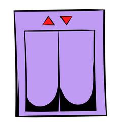 Elevator icon cartoon vector