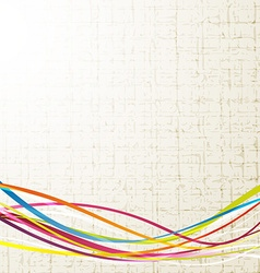 Fresh colorful rainbow wave line background vector image vector image
