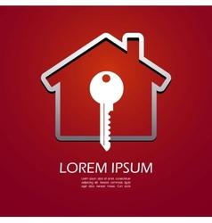 House lock icon vector