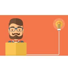 Online business idea vector