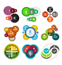 set of circle shaped bubbles infographic vector image
