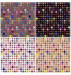 Set of four colorful dots patterns vector image vector image