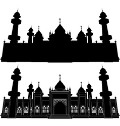 Silhouette of Jamiah Mosque Pattani vector image