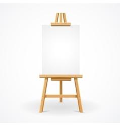 Wooden easel empty vector image vector image