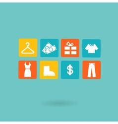 16 icons set Shopping Euro vector image