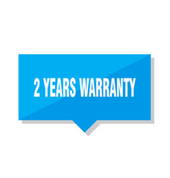 2 years warranty price tag vector
