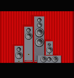 a set speaker systems for home cinema vector image