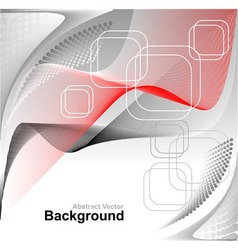 Abstract background in red grey white colors vector