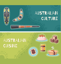 Australia cartoon banners vector