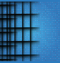 Black geometric lines blue background vector