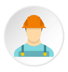 Builder icon circle vector