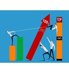 Business teamwork and leadership graphic design vector image