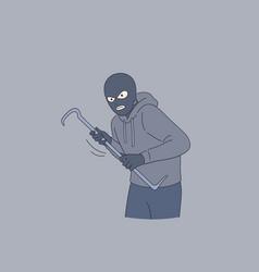 Cat burglar crime concept vector