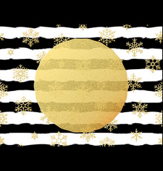 chic and luxury christmas postcard with gold vector image