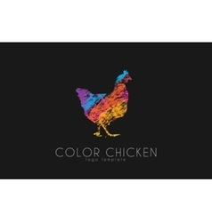 chicken logo color creative logo vector image