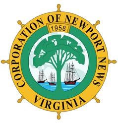 Coat arms newport news in virginia state of vector