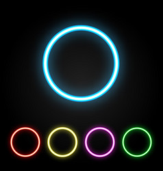 Colorful neon ring vector