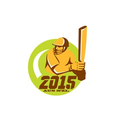Cricket 2015 Australia New Zealand Circle vector image