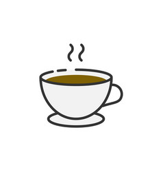 cup coffee outline icon vector image