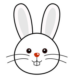 cute rabbit cute animal faces vector image