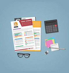 cv documents with stuff vector image