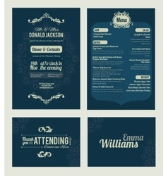 Elegant blue dinner coctails party vector
