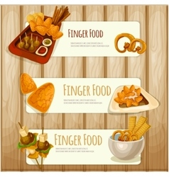 Finger food banners vector image