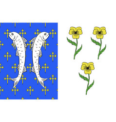 Flag of bar-le-duc in meuse of grand est is vector