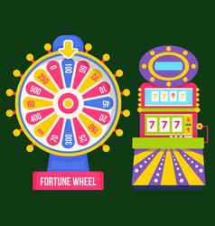 Gambling machine roulette symbol casino vector