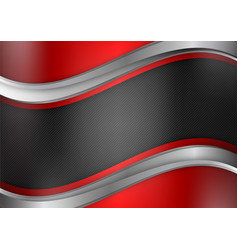 Geometric abstract background red and black color vector