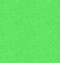 Green seamless curved star pattern background vector