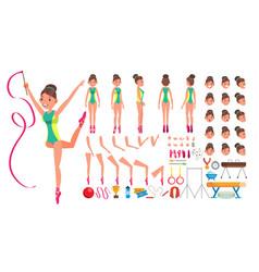 gymnastics female animated character vector image