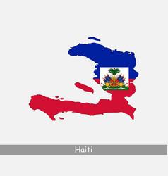 haiti map flag vector image