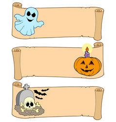 Halloween banners collection 1 vector