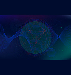 infinite space background abstract futuristic vector image
