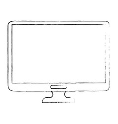 isolated computer screen vector image