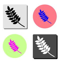 leaf flat icon vector image