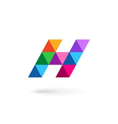 Letter H mosaic logo icon design template elements vector