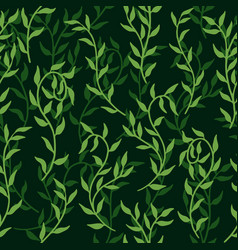 liana spreads green leaves creeper seamless vector image
