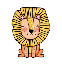Lion wild animal cartoon vector