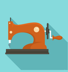 Manual sew machine icon flat style vector