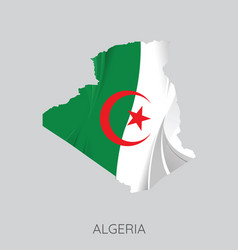 Map algeria vector