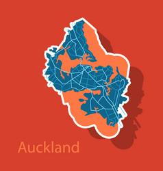 Map - auckland new zealand - sticker vector