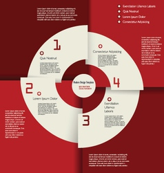 Modern red design infographic template vector