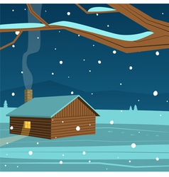 Mountain Cabin vector image