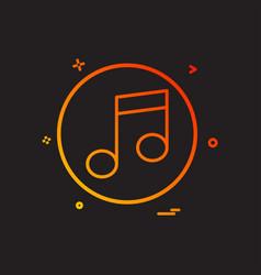music player icon design vector image