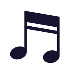 musical note melody on white background vector image