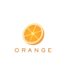 Orange logo and text for designs vector